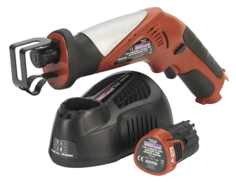 Cordless Lithium-ion Reciprocating Saw 12V with Battery & Charger SEALEY TOOLS (ENGLAND) CP40COMBO12